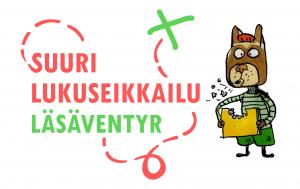 Suuri lukuseikkailu - Läsäventyr -logo.