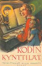 Kansikuva 1931. Nainen ja lapsi pianon ääressä kynttilänvalossa.