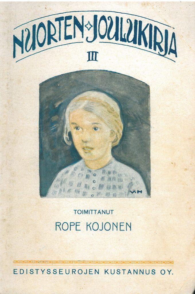 Kansikuva 1919. Tytön kasvot.