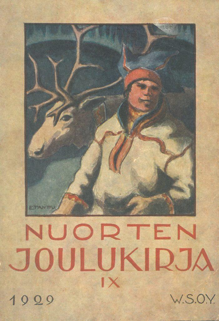 Kansikuva 1929. Poromies ja poro.