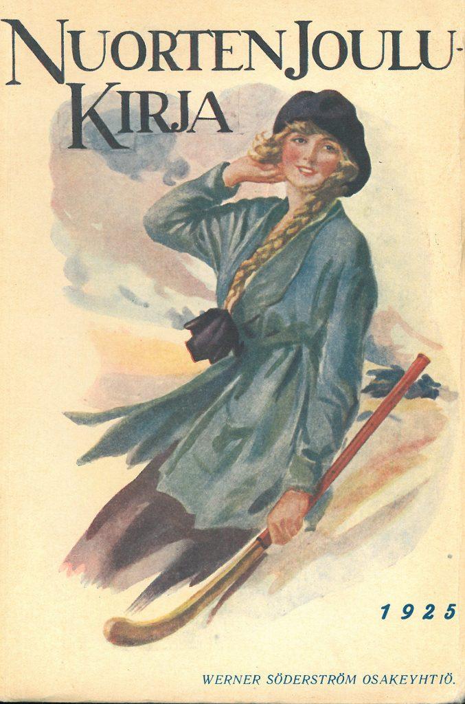Kansikuva 1925. Pitkälettinen nuori nainen.