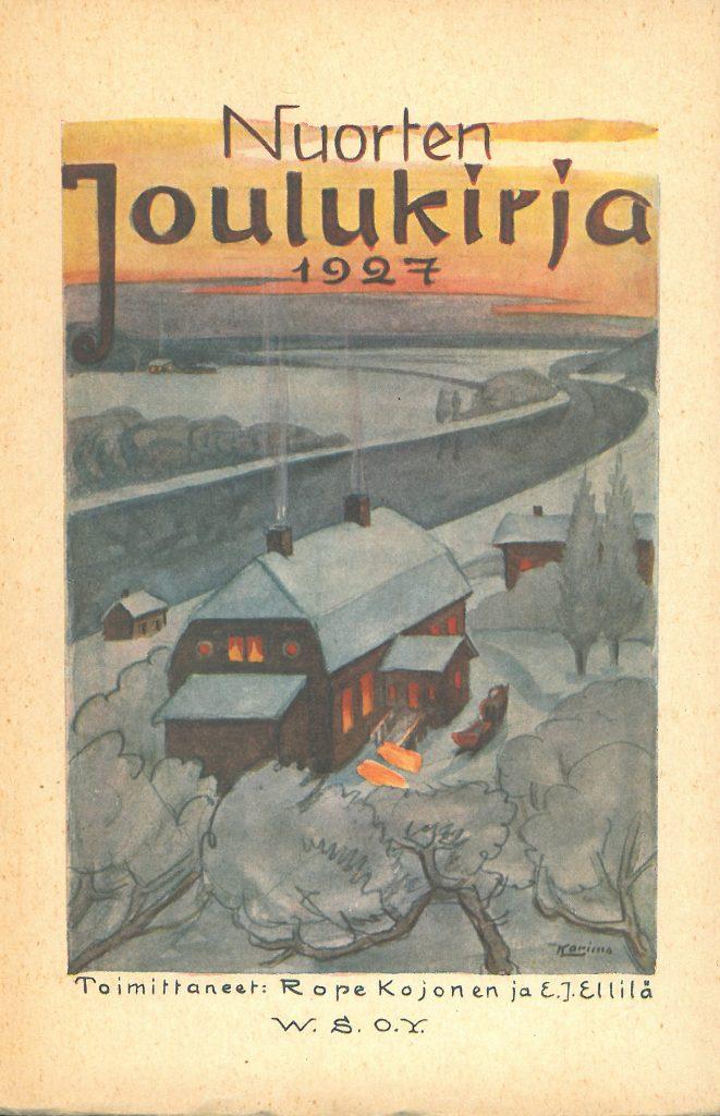 Kansikuva 1927. Talo talvisessa maisemassa.