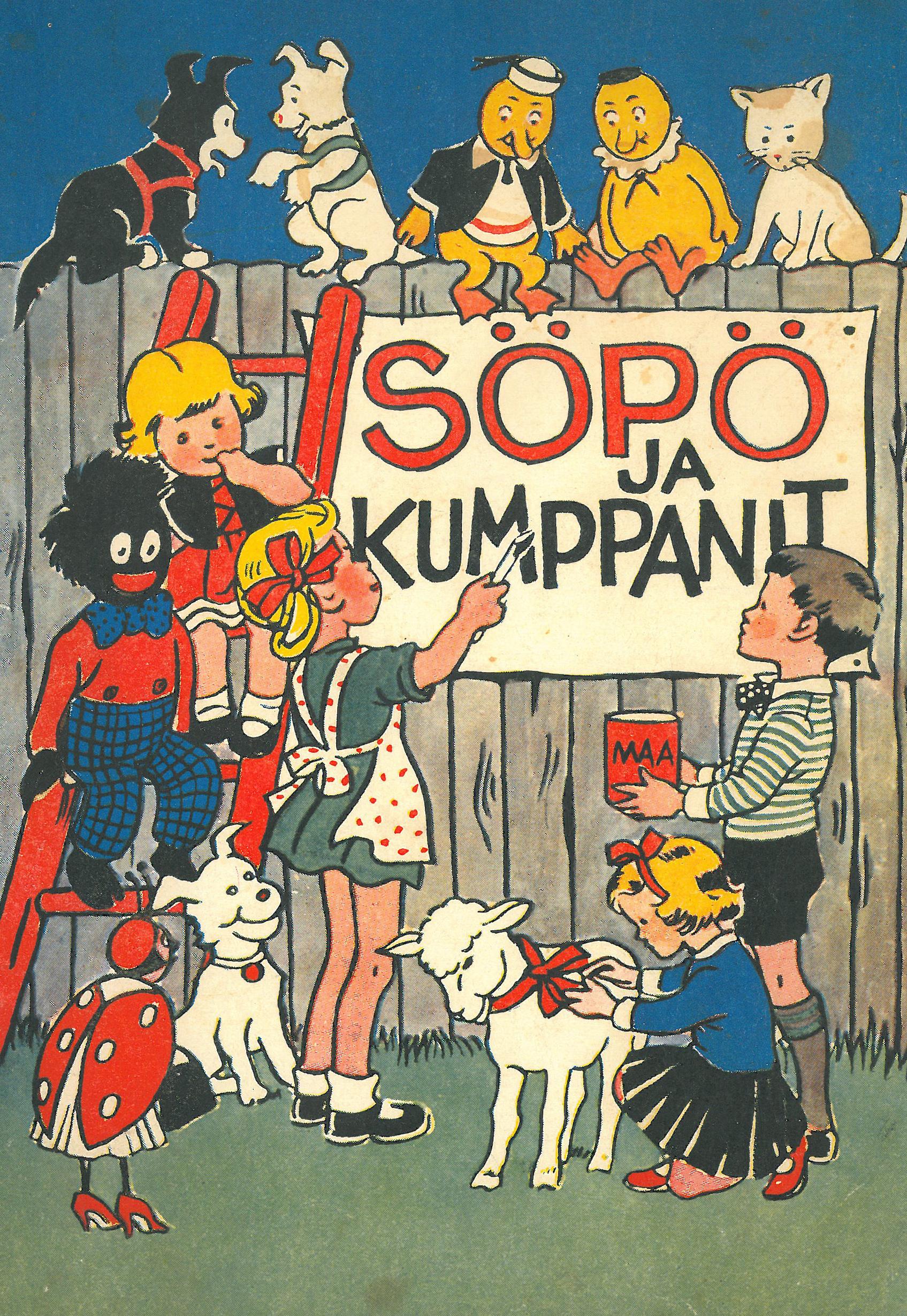 Kansikuva 1961. Lapsia ja eläimiä aidan luona.