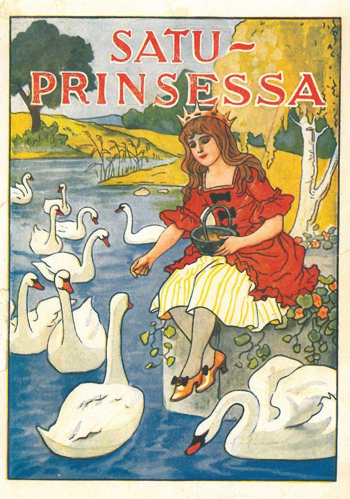 Kansikuva 1929. Prinsessa syöttää joutsenia.
