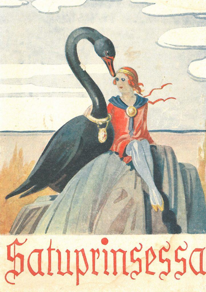 Kansikuva 1937. Prinsessa ja musta joutsen.