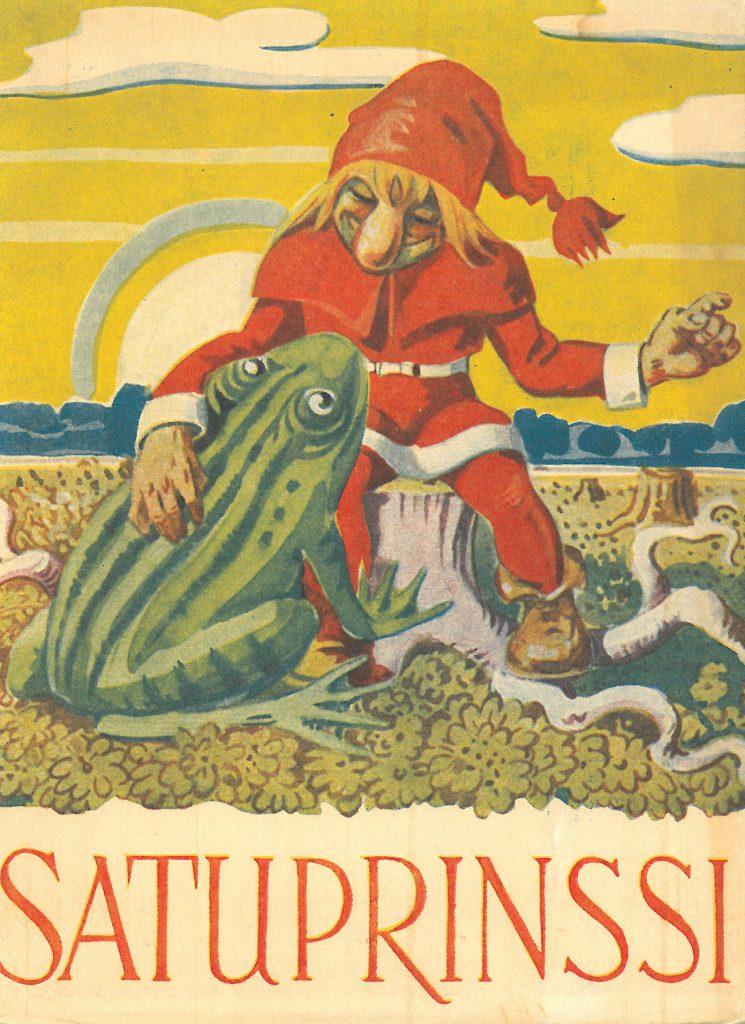 Kansikuva 1949. Tonttu ja sammakko.