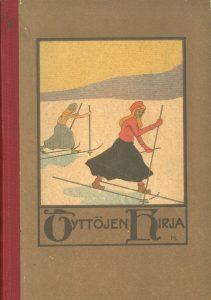 Kansikuva 1911. Kaksi naista hiihtää.