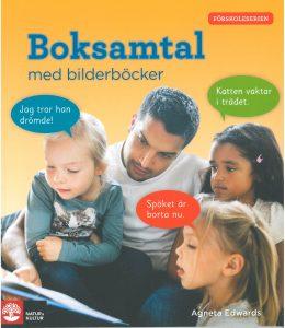 Boksamtal med bilderböcker -kirjan kansi.