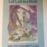 "Juliste ""Get lost in a book""."