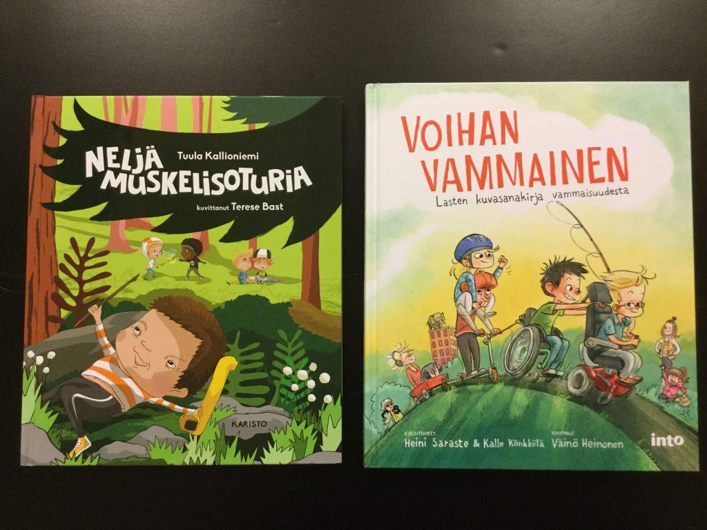 Kirjat Neljä muskelisoturia ja Voihan vammainen.