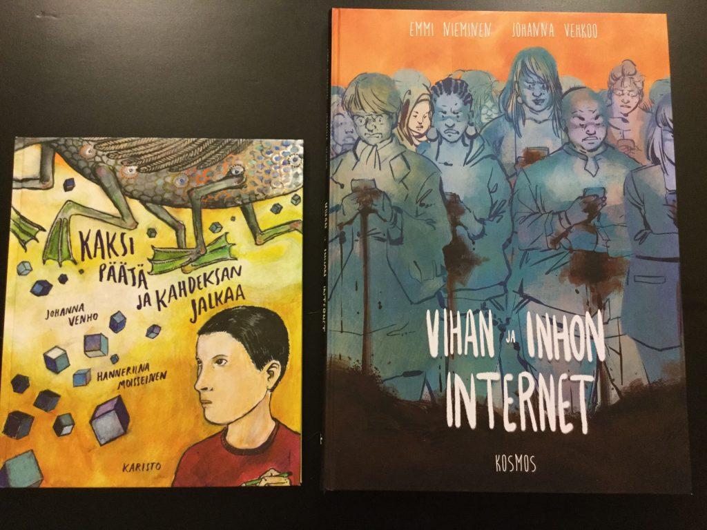 Kirjat Kaksi päätä ja kahdeksan jalkaa ja Vihan ja inhon internet.