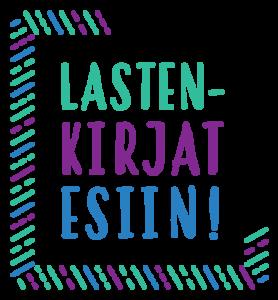 Lastenkirjat esiin! -hankkeen logo.