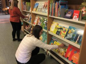 Picture books in the Kirjakori 2018 -exhibition.
