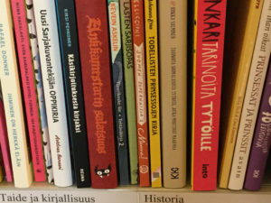 Books in the Kirjakori 2018 -exhibition.