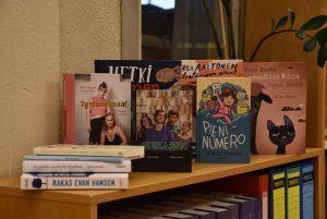 Books in the Kirjakori 2019 exhibition.