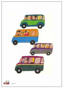 Juliste, Camilla Mickwitz: Bussit.