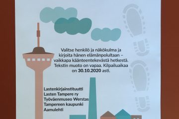 Väinö Linnan jäljillä -kilpailujuliste.