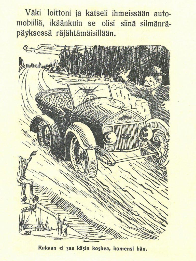 Kuvituskuva satukirjaan Partaniekan seikkailut
