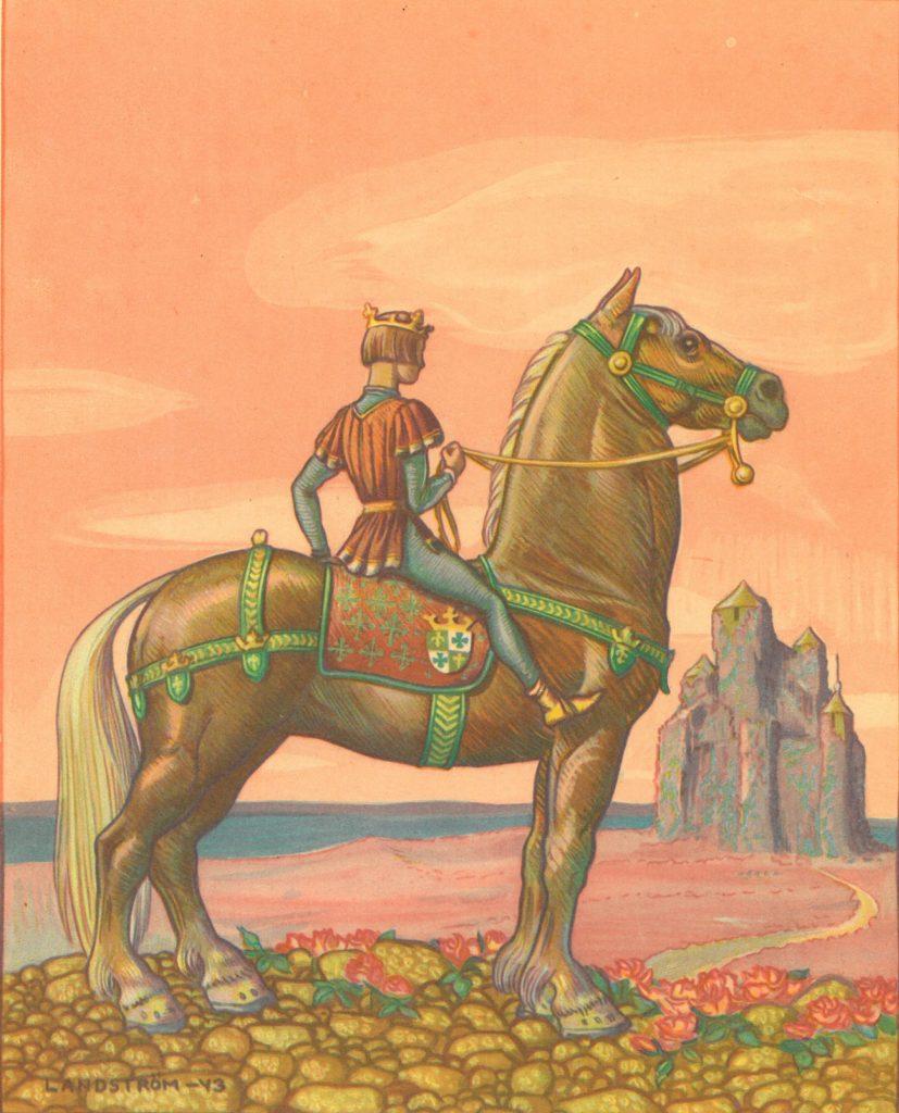 Kuvituskuva kuvakirjaan Prinsessa Ruusunen