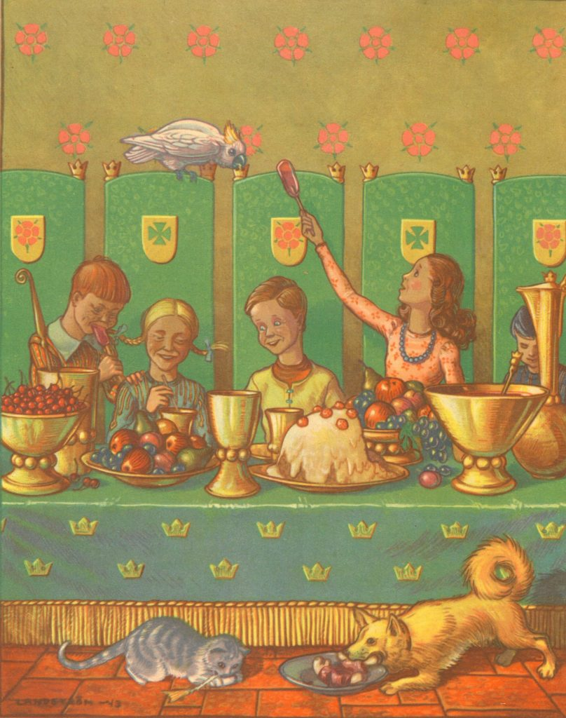 Kuvituskuva kirjaan Prinsessa Ruusunen
