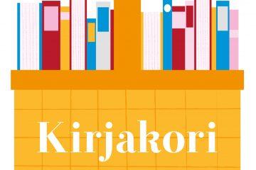 Kuva korista, jossa on kirjoja ja teksti Kirjakori